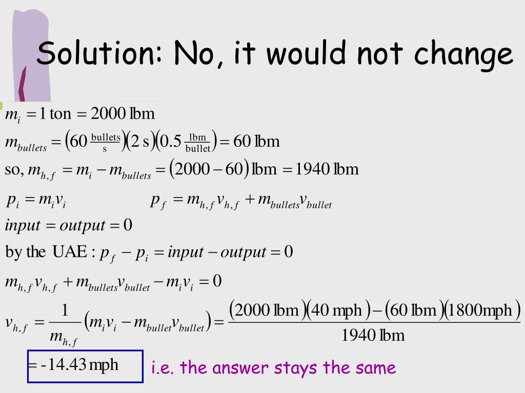 i.e. the answer stays the same