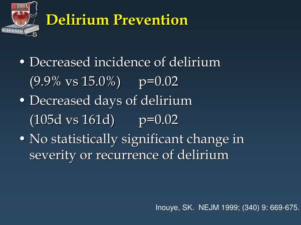 Delirium Prevention