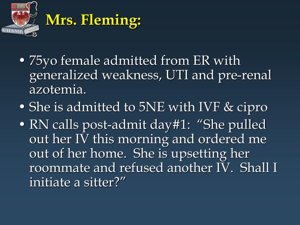 Mrs. Fleming: