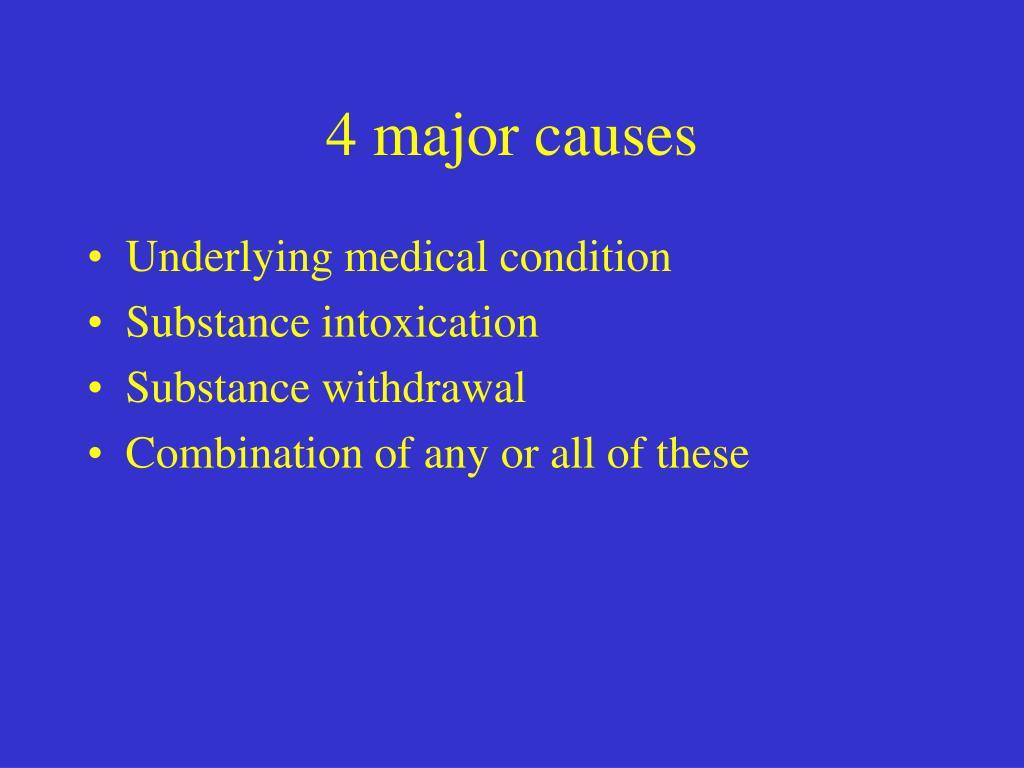 4 major causes