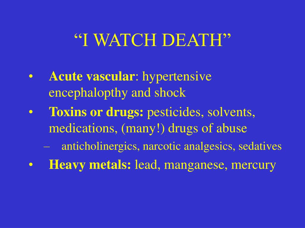 """""""I WATCH DEATH"""""""