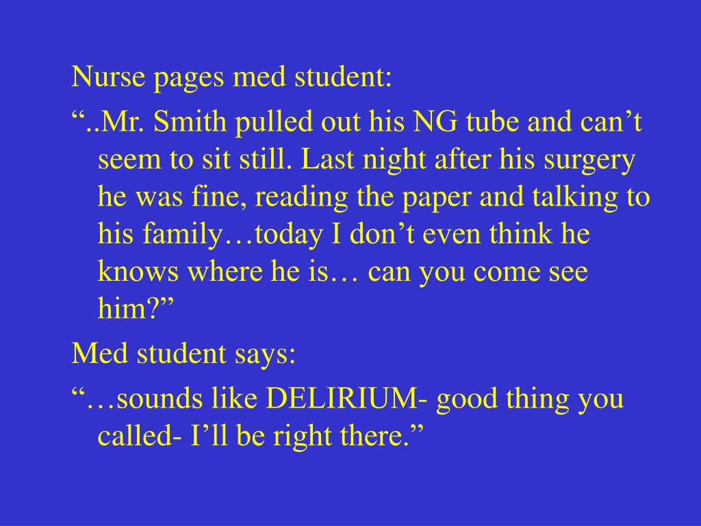 Nurse pages med student:
