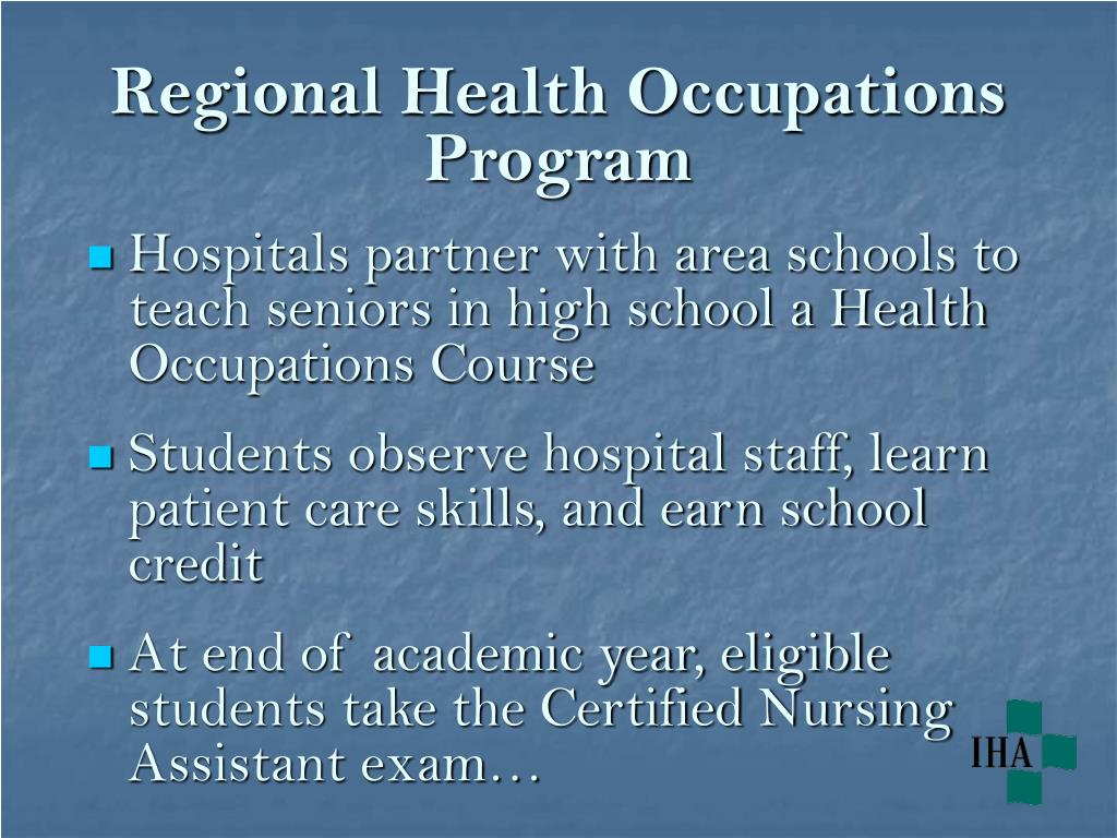 Regional Health Occupations Program