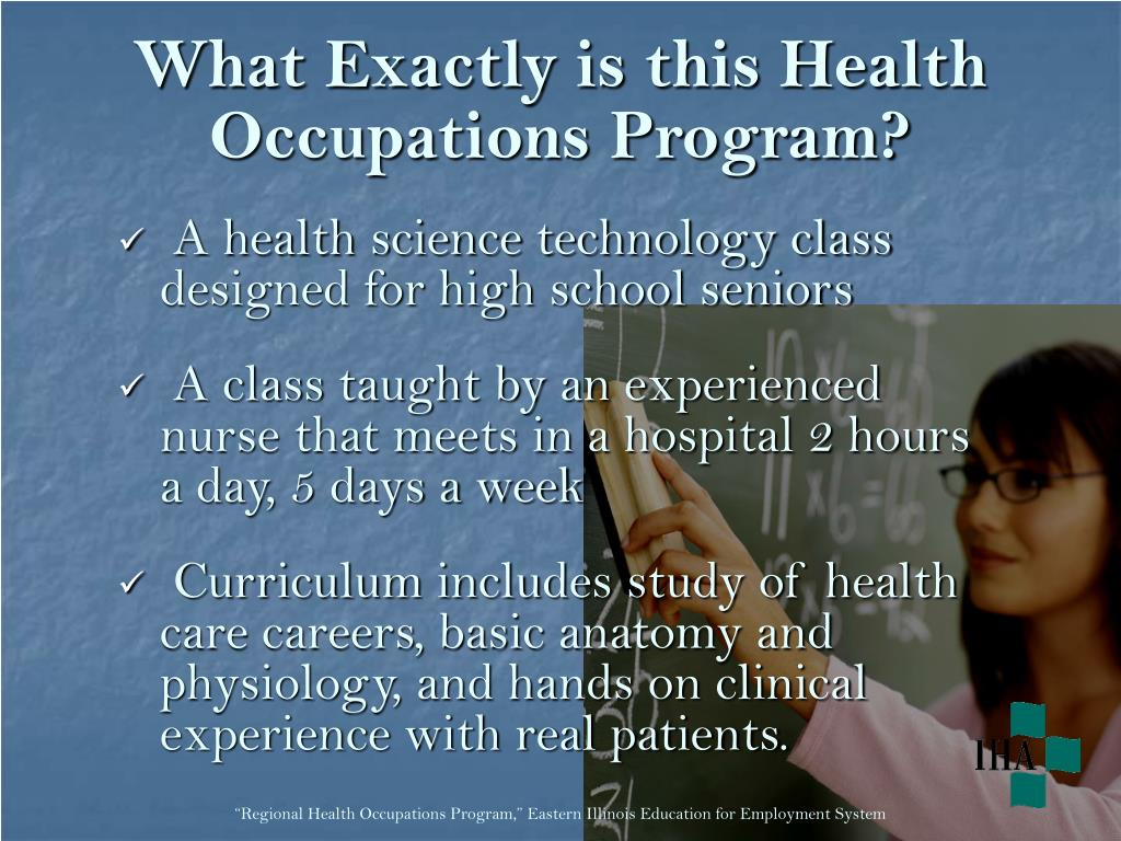 What Exactly is this Health Occupations Program?
