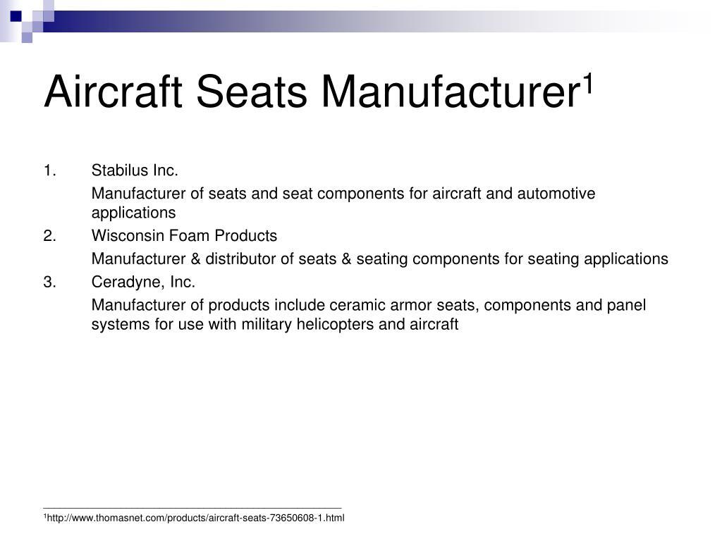 Aircraft Seats Manufacturer
