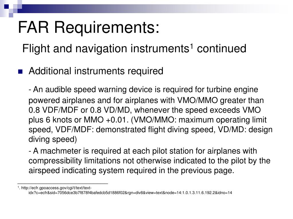 FAR Requirements: