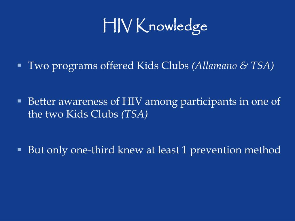 HIV Knowledge