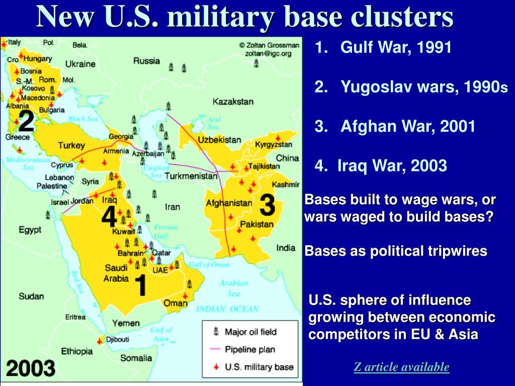 New U.S. military base clusters