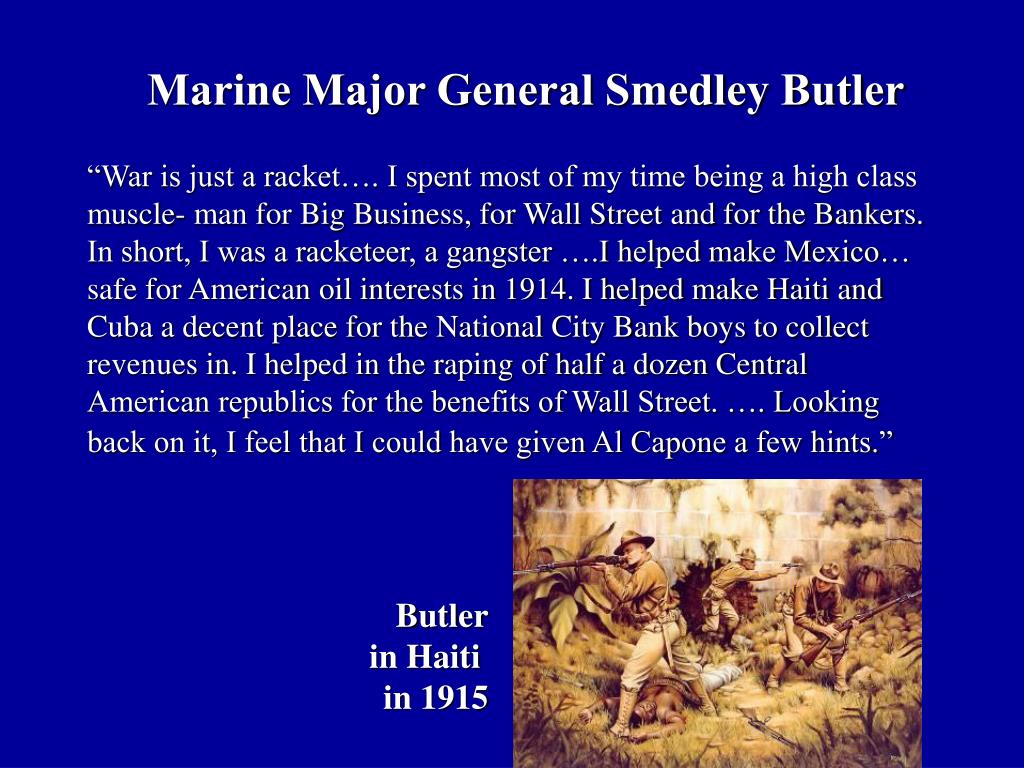 Marine Major General Smedley Butler