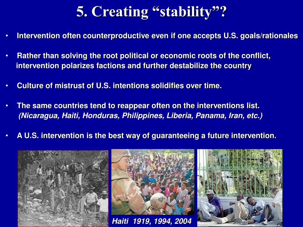 """5. Creating """"stability""""?"""