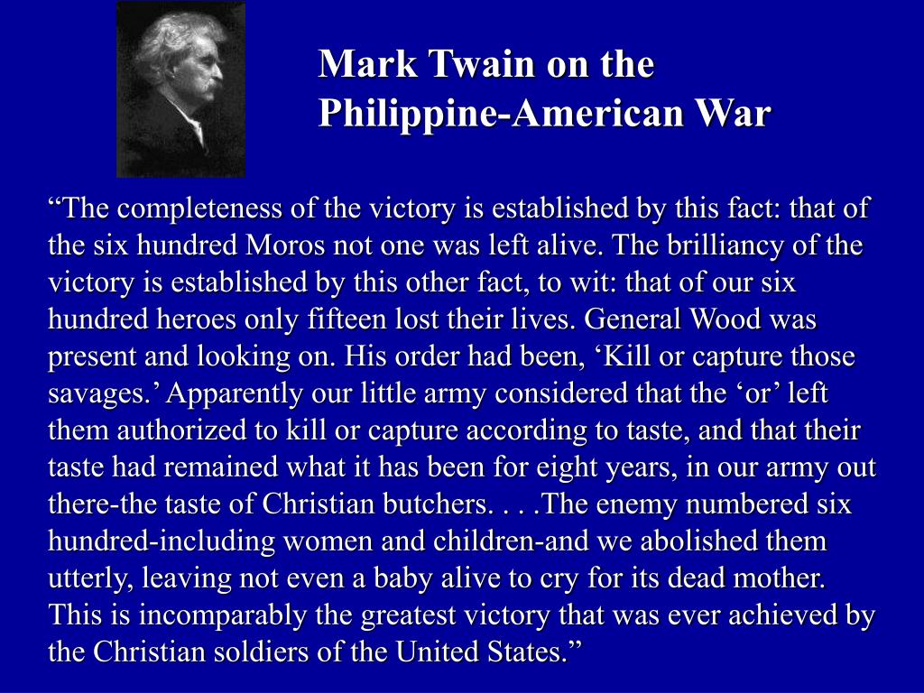 Mark Twain on the