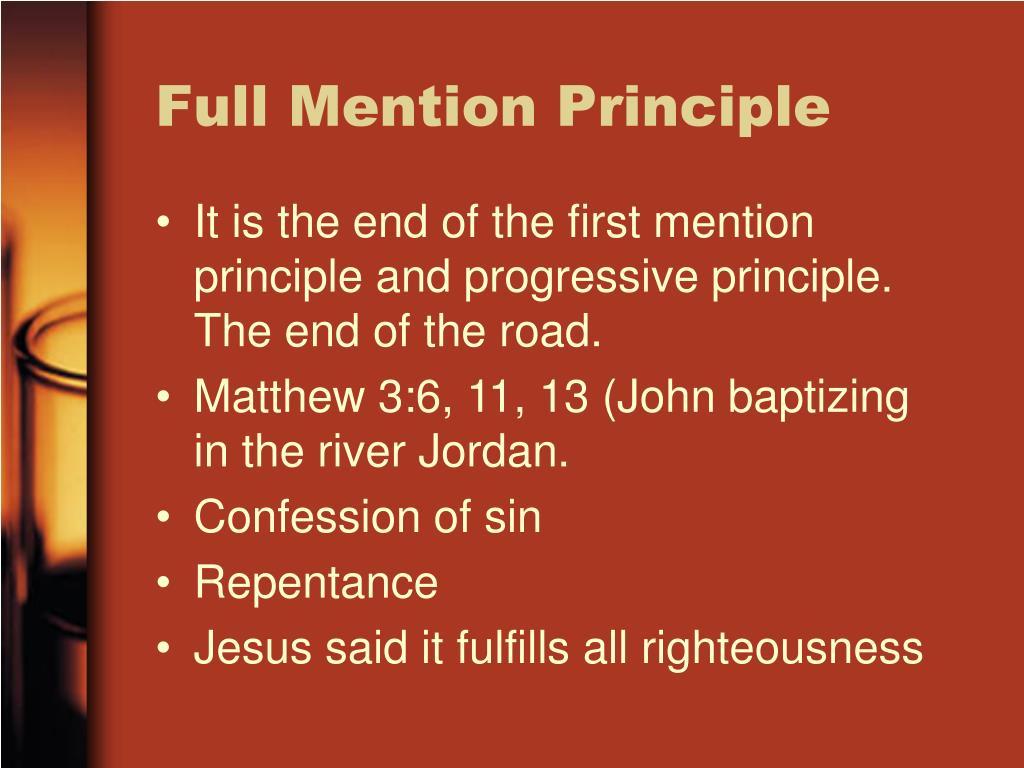 Full Mention Principle