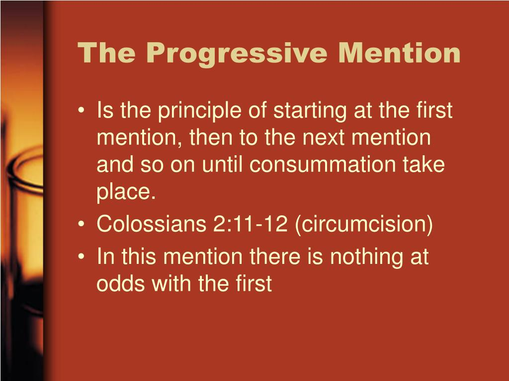 The Progressive Mention