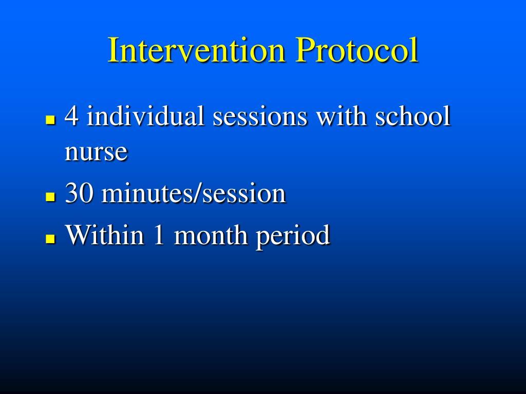 Intervention Protocol