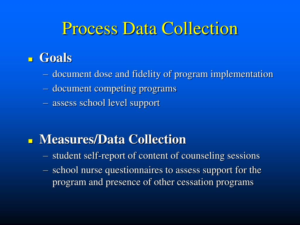 Process Data Collection