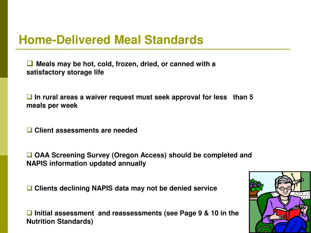 Home-Delivered Meal Standards
