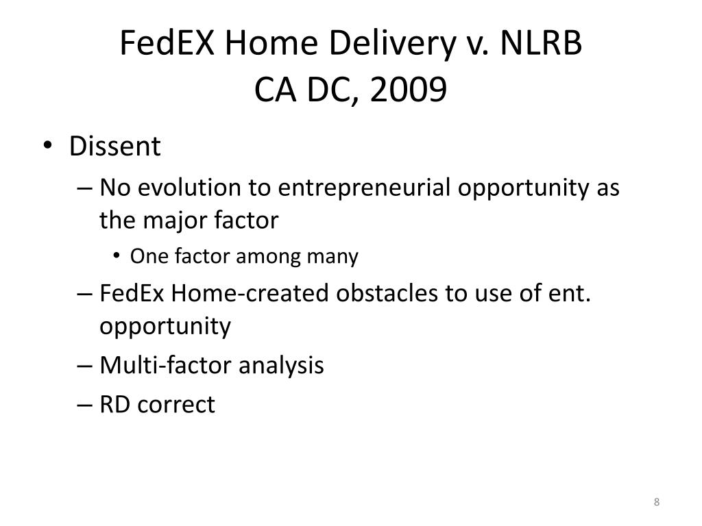 FedEX Home Delivery v. NLRB