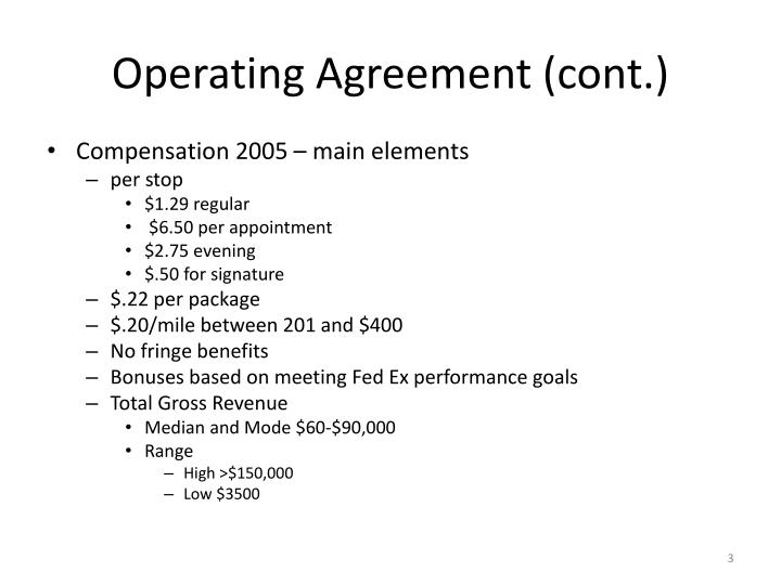 Operating agreement cont3