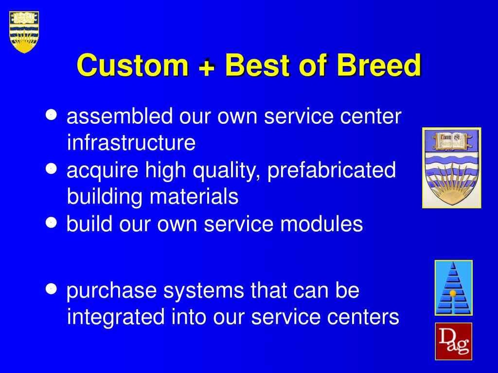 Custom + Best of Breed