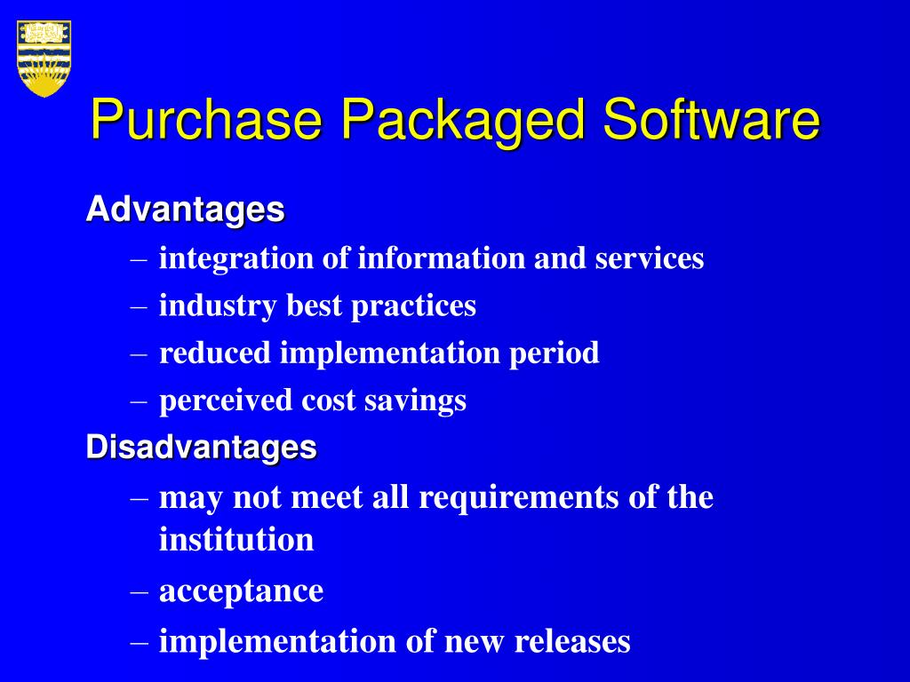 Purchase Packaged Software