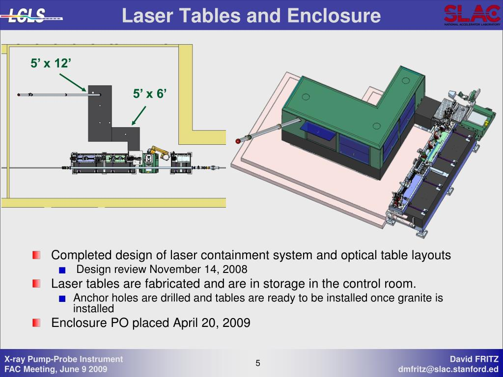 Laser Tables and Enclosure