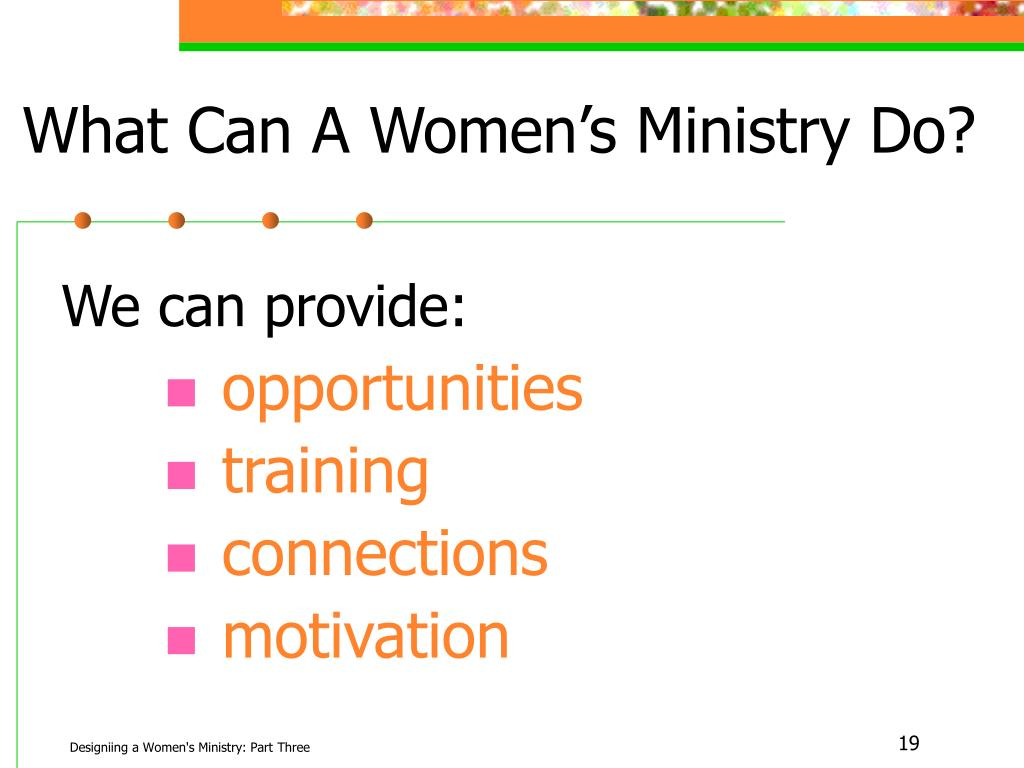 What Can A Women's Ministry Do?