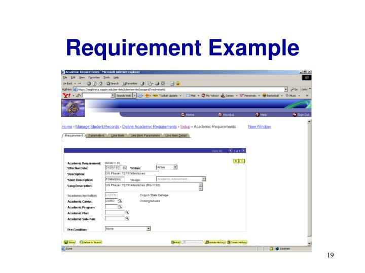 Requirement Example