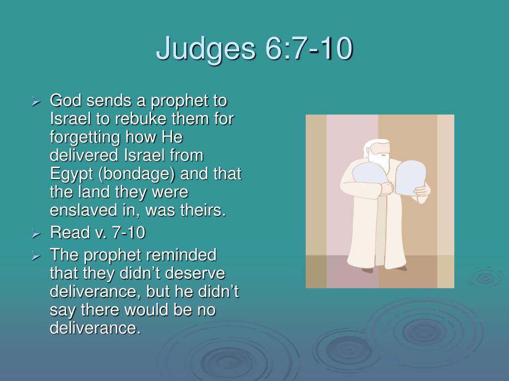 Judges 6:7-10