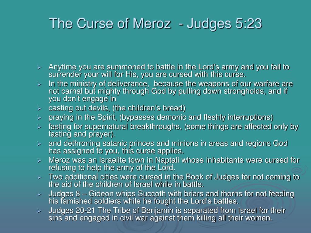 The Curse of Meroz  - Judges 5:23