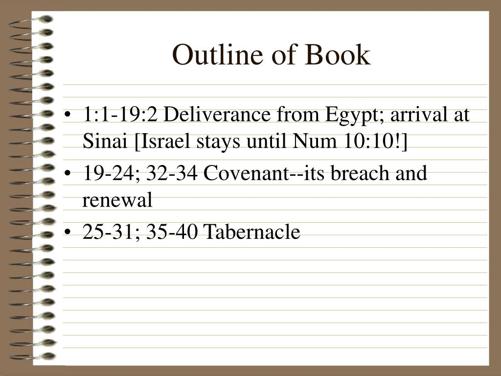 Outline of Book