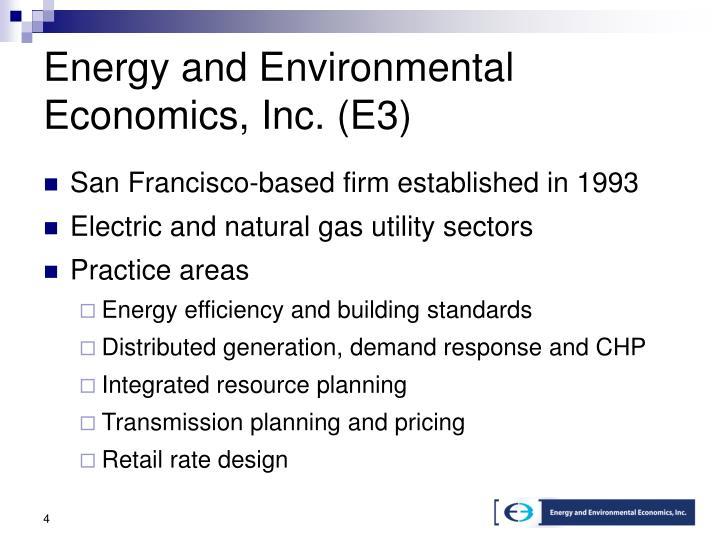 Energy and Environmental Economics, Inc. (E3)