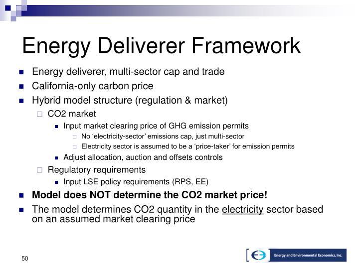 Energy Deliverer Framework