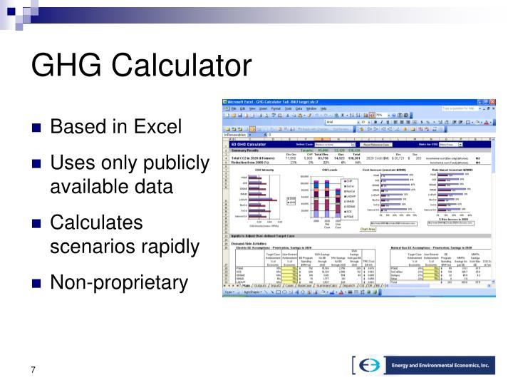 GHG Calculator