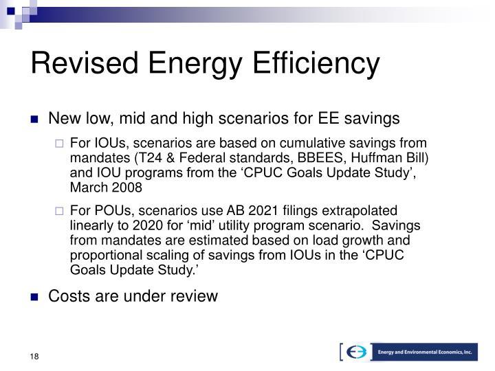 Revised Energy Efficiency