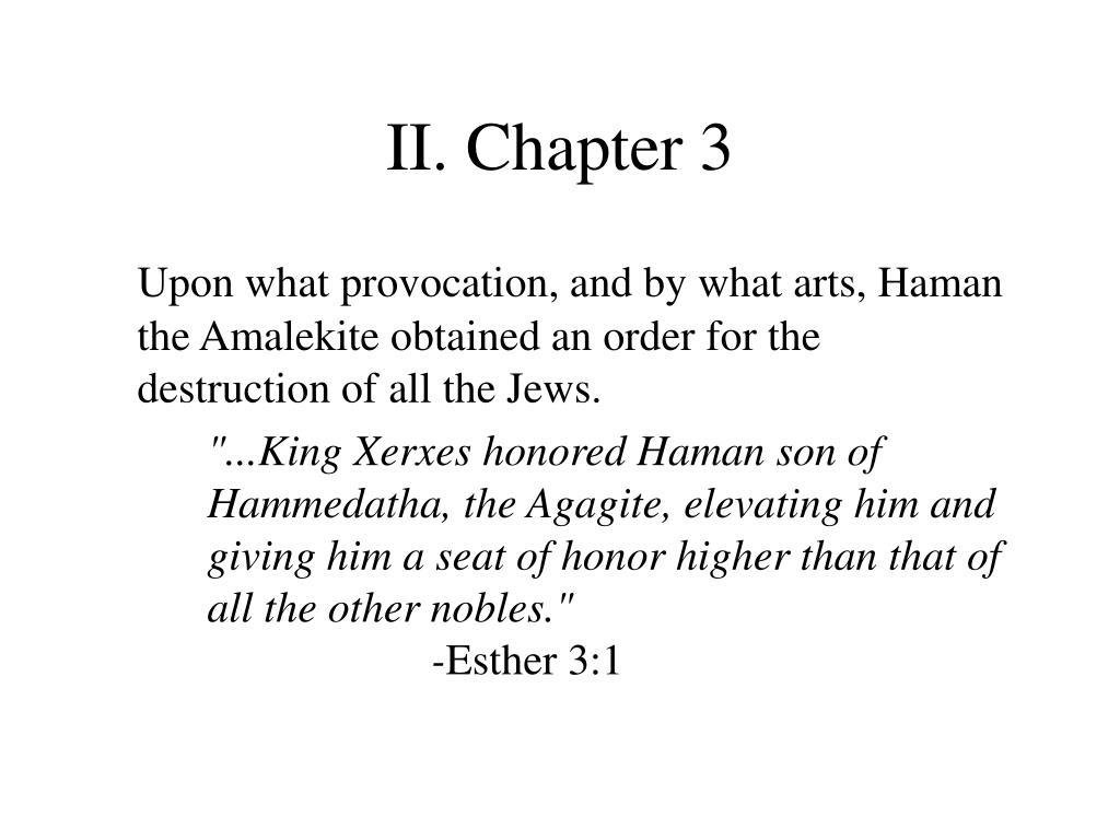 II. Chapter 3