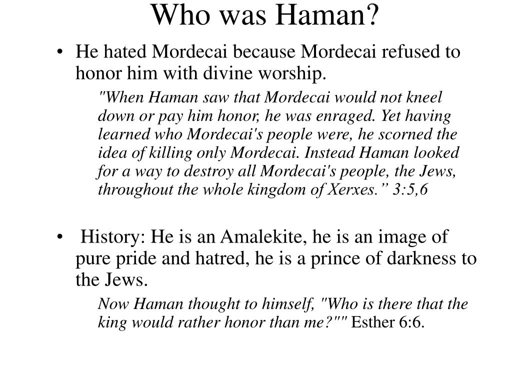 Who was Haman?