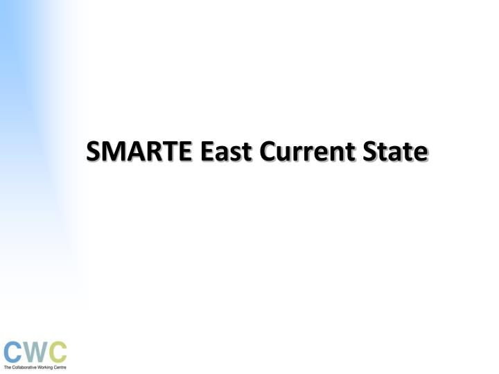 SMARTE East Current State