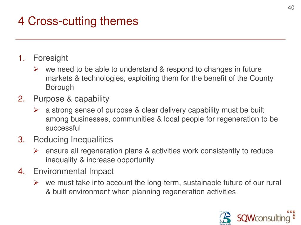 4 Cross-cutting themes