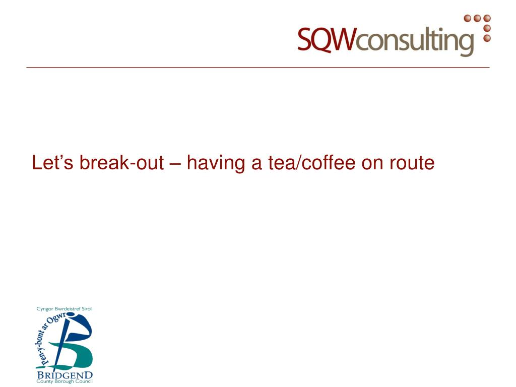 Let's break-out – having a tea/coffee on route