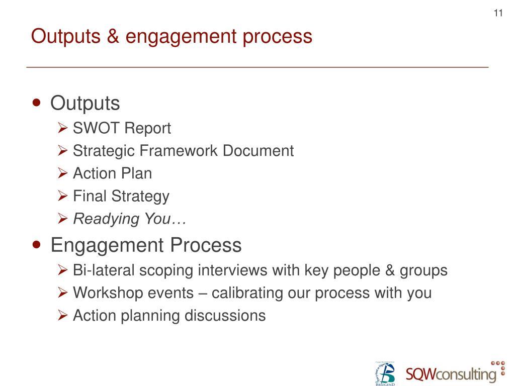 Outputs & engagement process