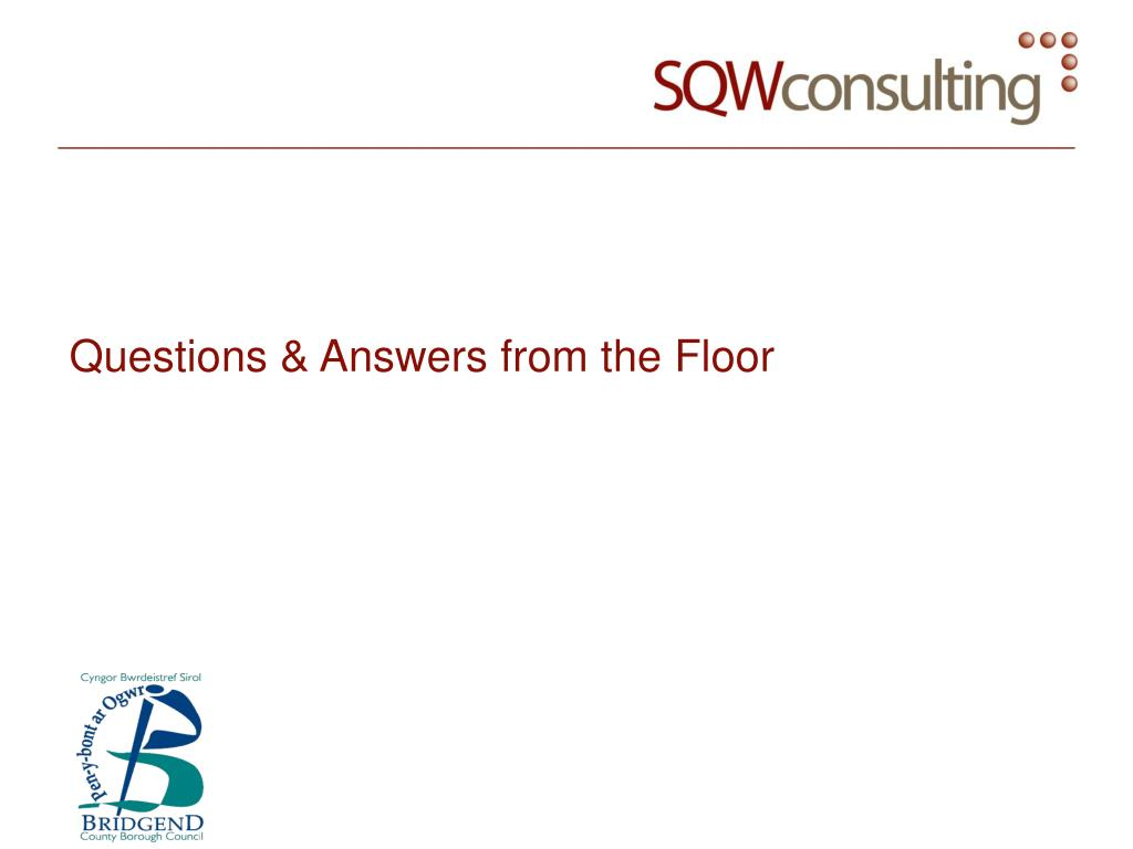 Questions & Answers from the Floor
