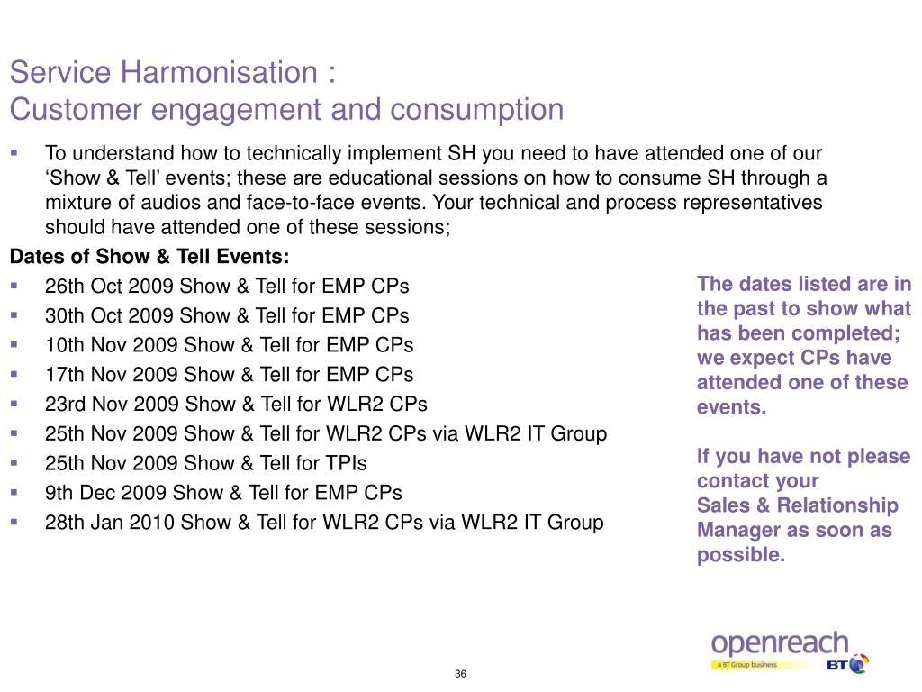 Service Harmonisation :