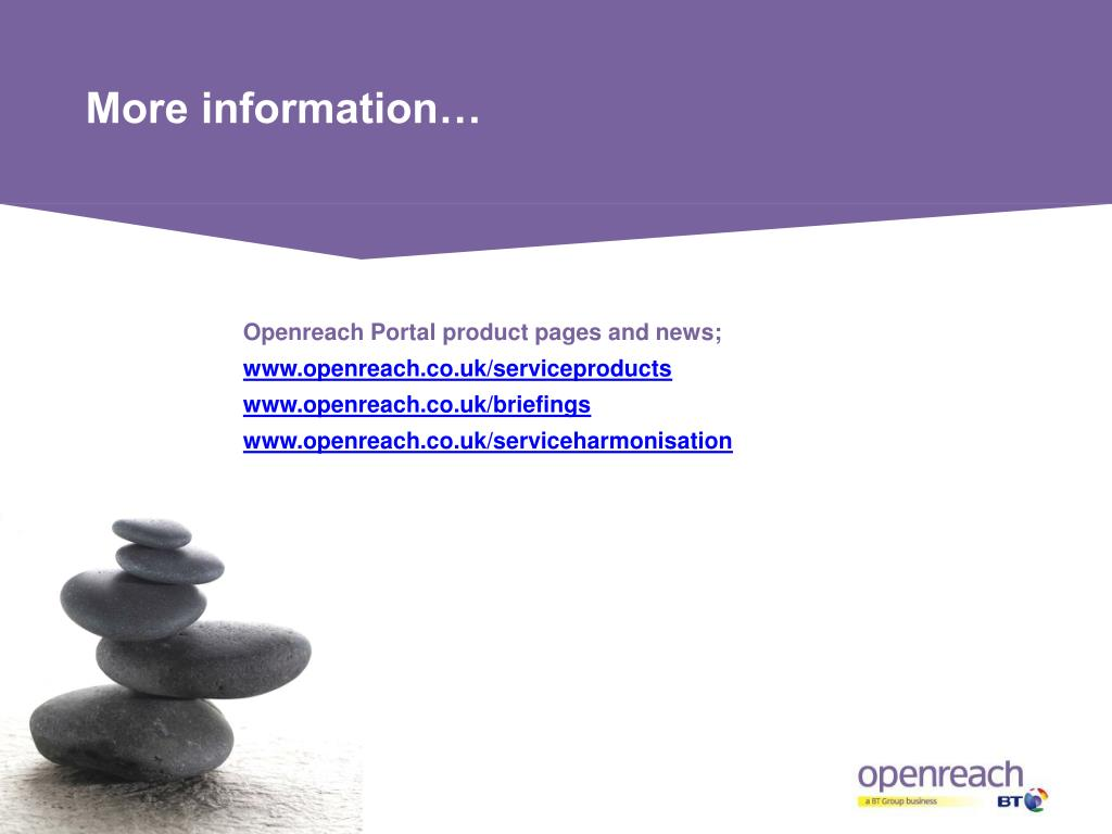 Openreach Portal product pages and news;