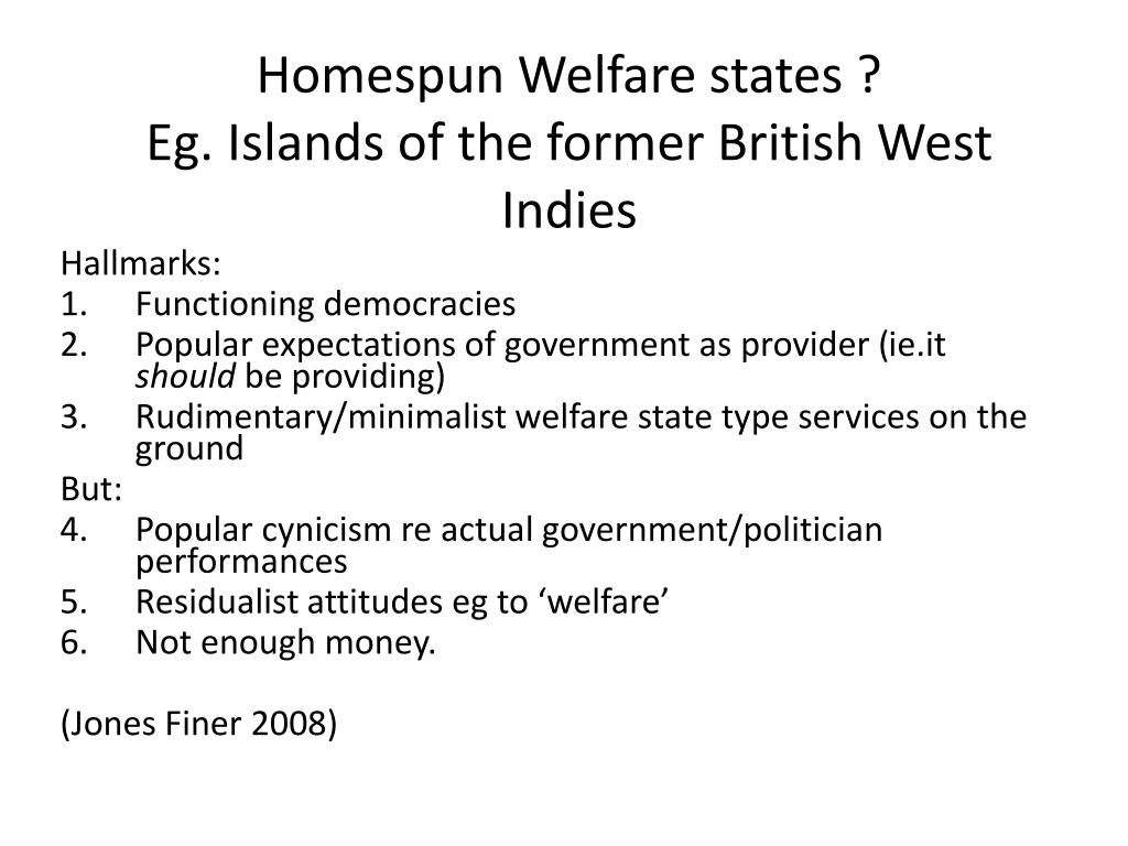 Homespun Welfare states ?