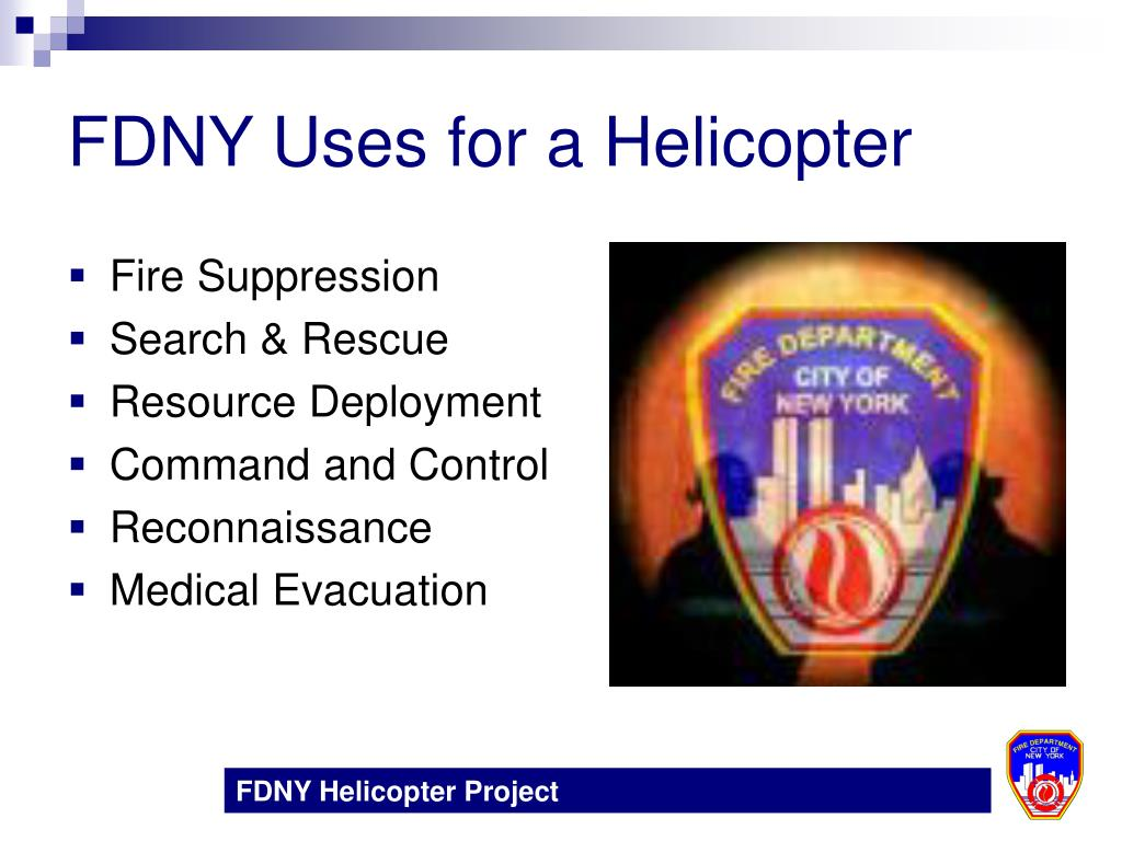FDNY Uses for a Helicopter