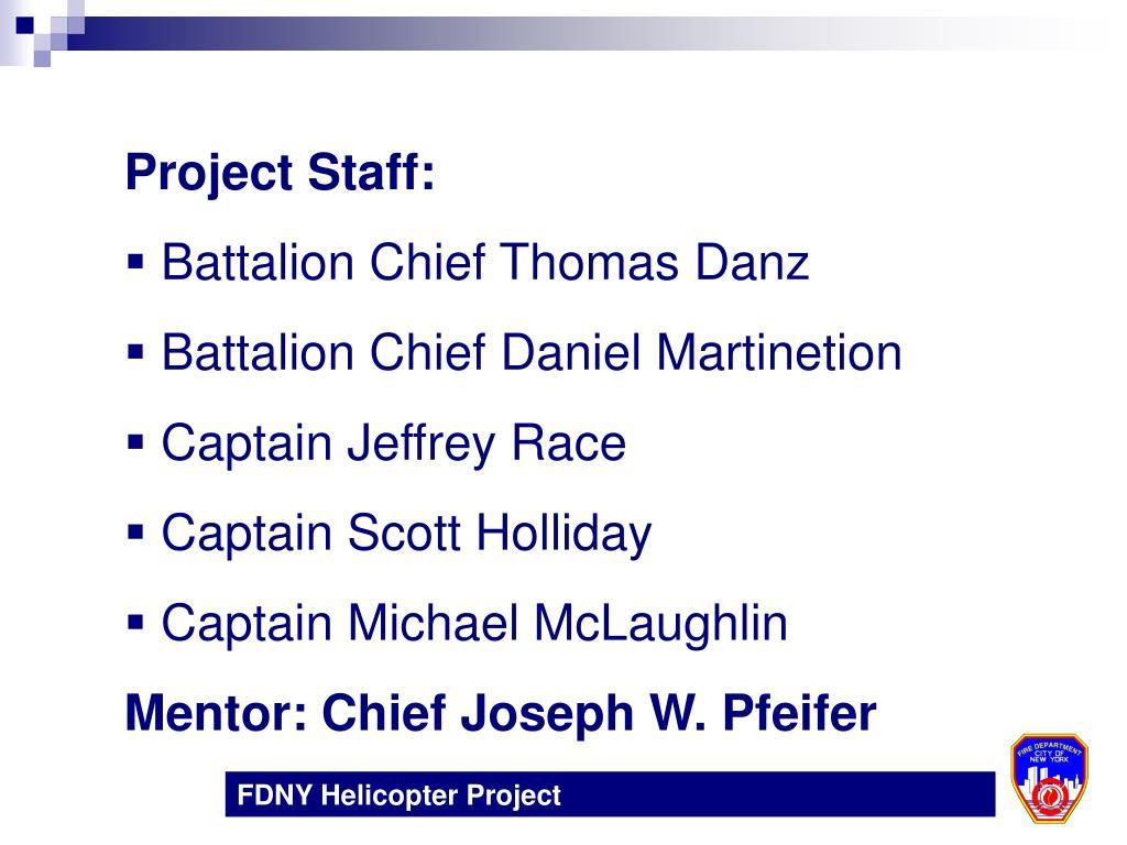 Project Staff:
