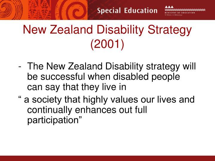 New Zealand Disability Strategy  (2001)