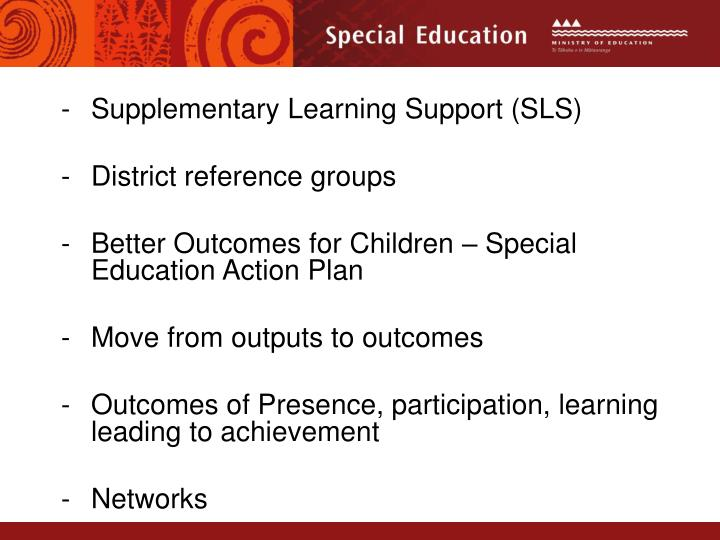 Supplementary Learning Support (SLS)