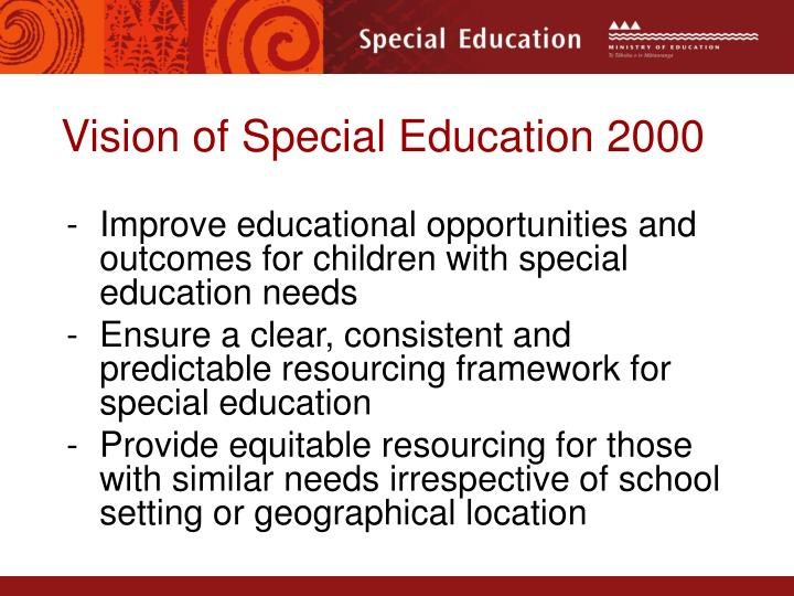 Vision of Special Education 2000