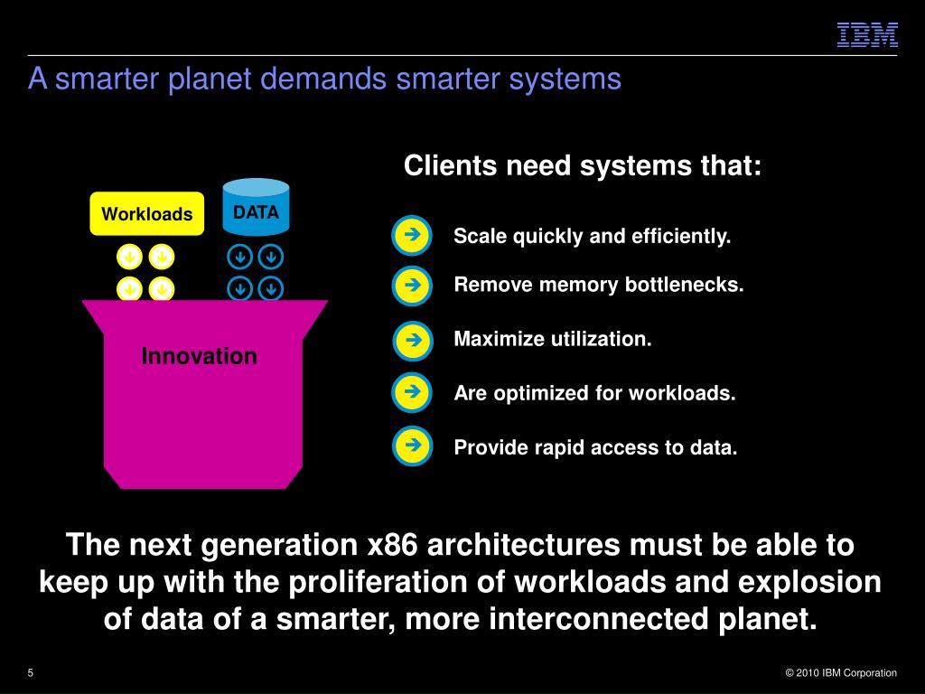 A smarter planet demands smarter systems